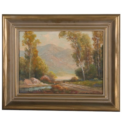 "John Anthony Connor Landscape Oil Painting ""Tujunga Canyon"""