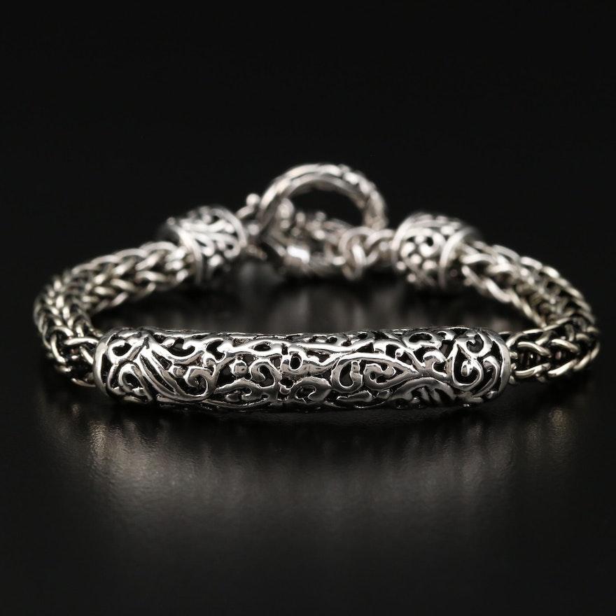 Sterling Silver Openwork Bracelet