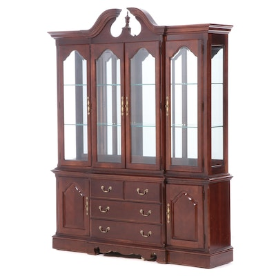 "Thomasville ""Impressions"" Cherry Breakfront China Cabinet"
