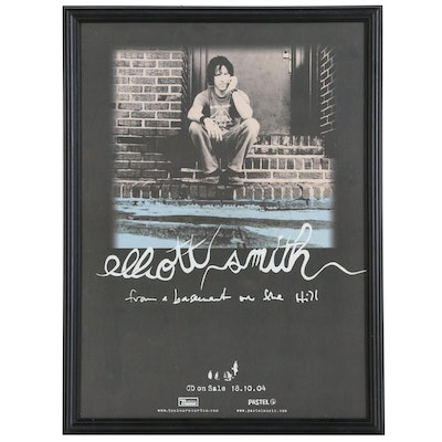 """Promotional Poster for Elliott Smith """"From a Basement on a Hill"""""""