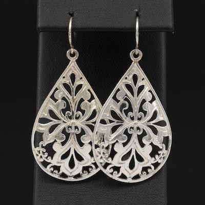 Sterling Silver Dangle Openwork Earrings