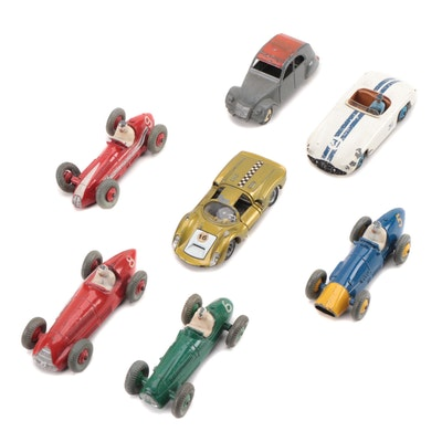 Dinky and Mebetoys Diecast Auto Racing Model Cars, Mid-20th Century