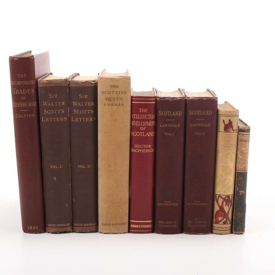 Sir Walter Scott's Letter and Scotland Books
