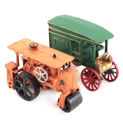 McCallaster Carriage and Hubley Steam Roller Cast Iron Toys