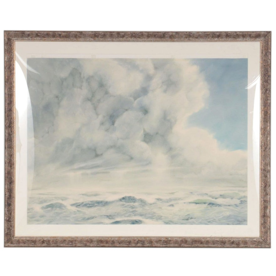 Monumental Seascape Watercolor Painting