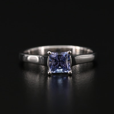 14K White Gold Tanzanite Solitaire Ring