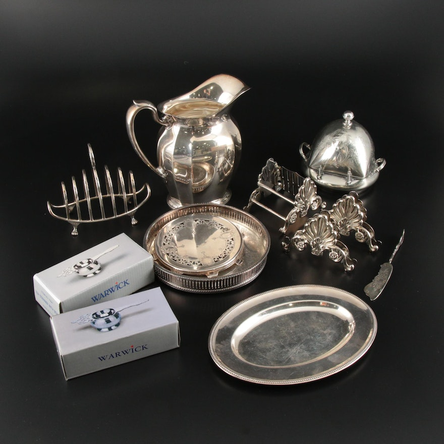 Reed & Barton, Gorham and Other Silver Plate Table Accessories