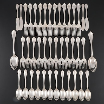 """Towle """"Old Newbury"""" Sterling Flatware, Early to Mid 20th Century"""