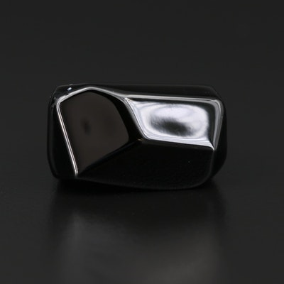 Baccarat Black Glass Ring
