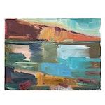 "Jose Trujillo Oil Painting ""Blue Reflections"", 2020"