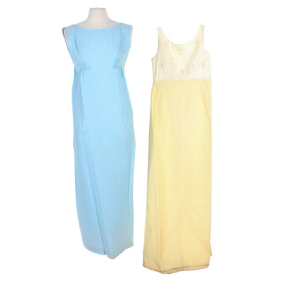 Lori Deb and Other Chiffon Sleeveless Formal Dresses, 1960s Vintage