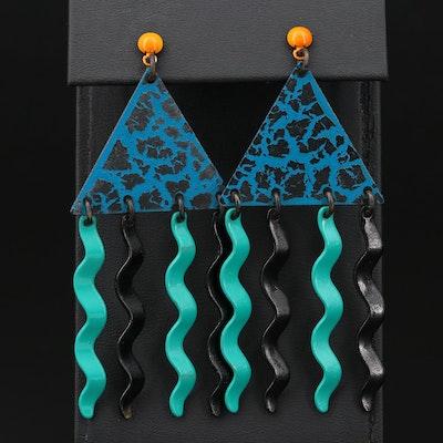Eve Kaplin Memphis Era Articulated Earrings