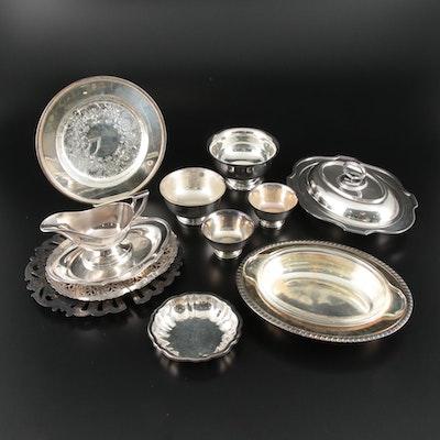 Silver Plate Bon Bon Bowls, Trivets, and Other Serveware, Vintage