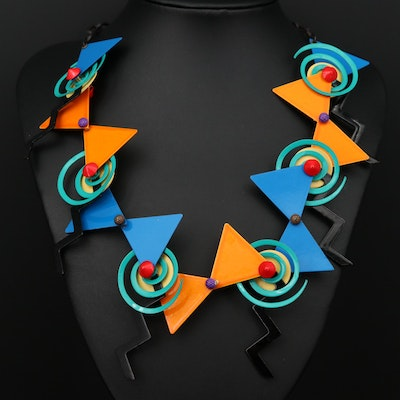 Eve Kaplin Memphis Era Kinetic Necklace