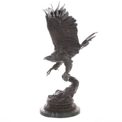 "Bronze Sculpture After Jules Moigniez ""Eagle"""