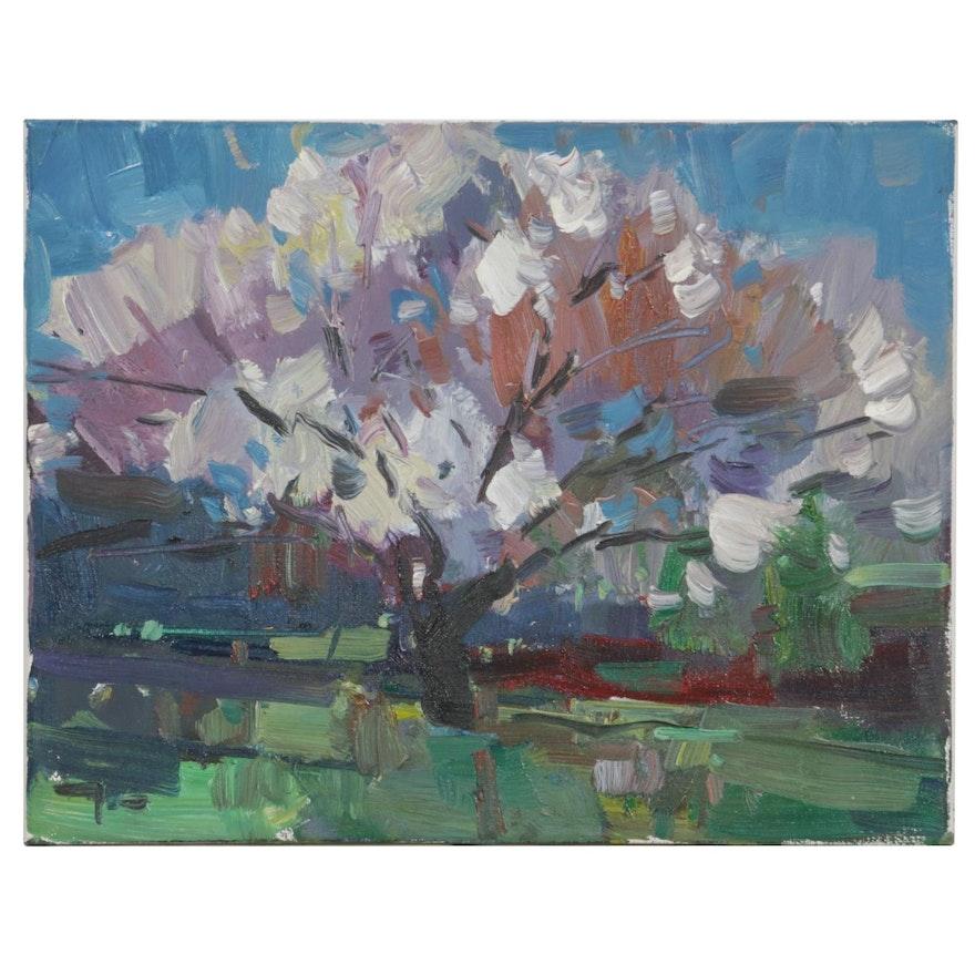 "Jose Trujillo Oil Painting ""Bloom"""