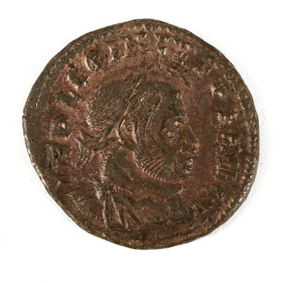 Double-Struck Ancient Roman Imperial AE Follis Coin of Licinius, ca. 314 A.D.