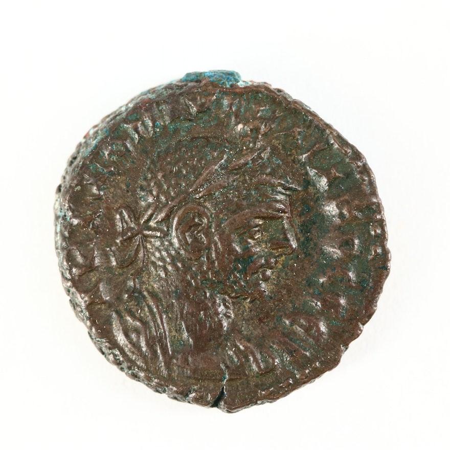 Ancient Roman Egypt AE Tetradrachm Coin of Aurelian, ca. 273 A.D.