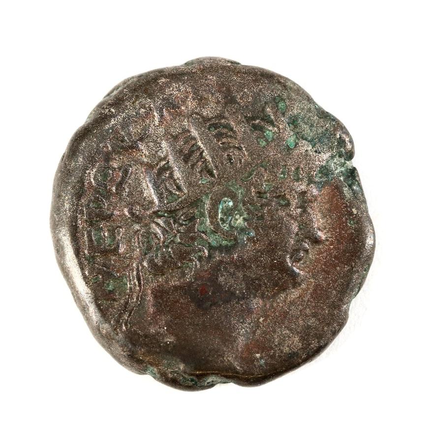 Ancient Roman Egypt, Alexandria Billon Tetradrachm Coin of Nero, ca. 64 A.D.