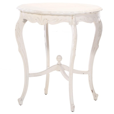 Louis XV Style Painted Wood End Table, Mid-20th Century
