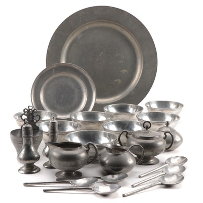 Meeuws & Zoon, Steiff, Insico and Other Pewter Table Accessories