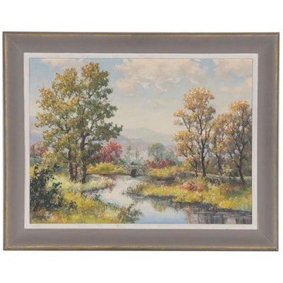 "Dwight F. Steininger Oil Painting ""Late Summer"""