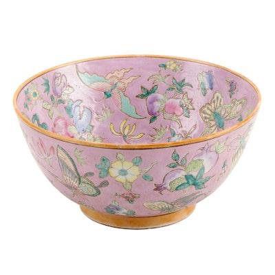 Decorative Floral Asian Ceramic Bowl