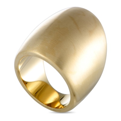 Calvin Klein Billow Yellow Gold PVD-Plated Stainless Steel Ring