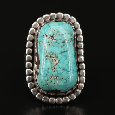 Signed Sterling Silver Turquoise Ring