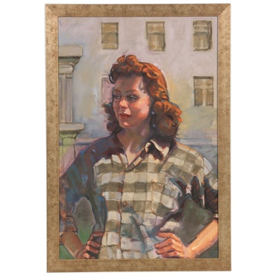 Nancy A. Dusenberry Figural Oil Painting