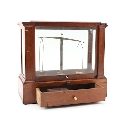 Henry Troemner Cabinet Fine Mineral Scale, Early 20th Century
