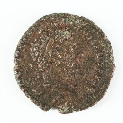 Ancient Roman Imperial AE As Coin of Marcus Aurelius, ca. 177 A.D.
