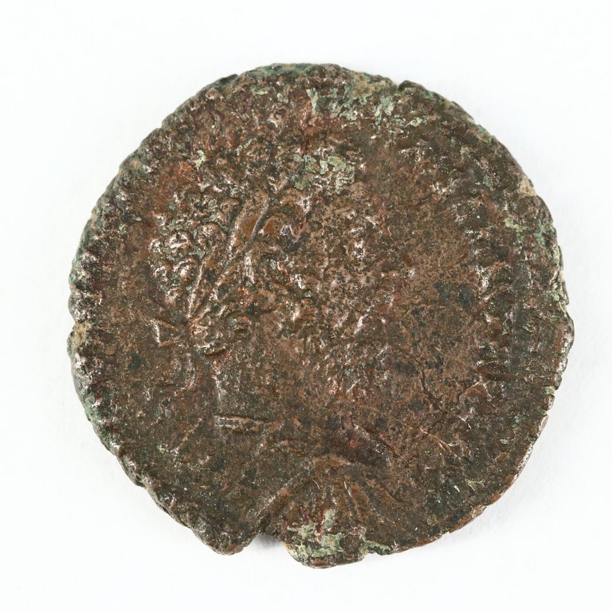 Ancient Roman Imperial AE As Coin of Marcus Aurelius, ca. 177 A.D.