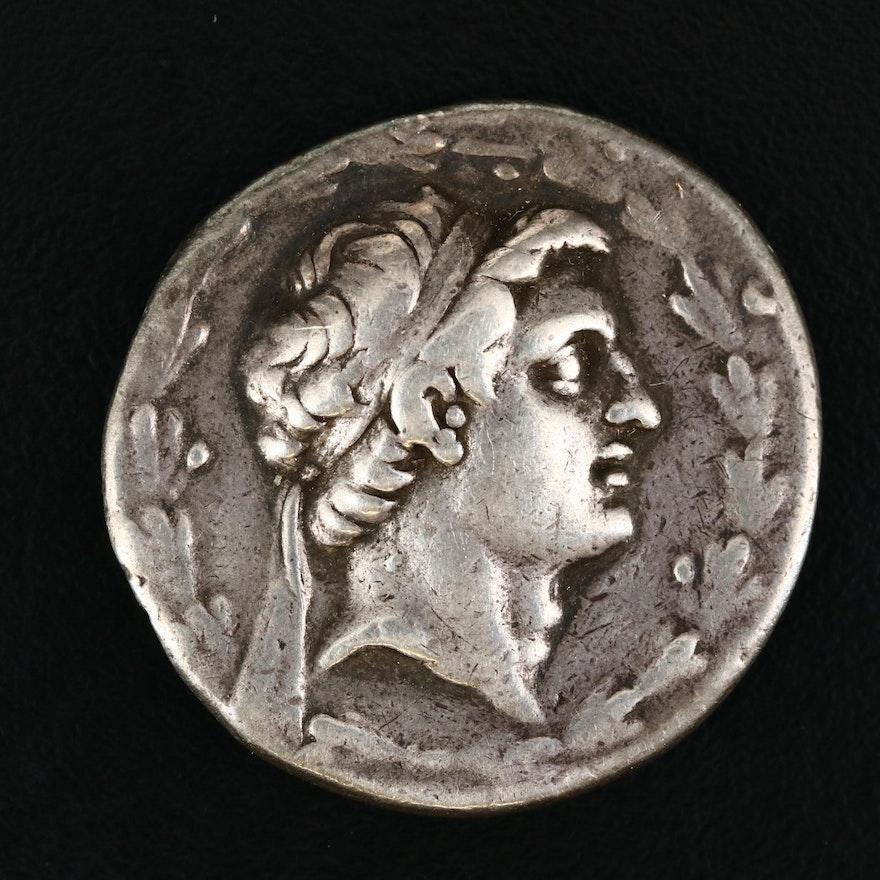 Ancient Seleucia AR Tetradrachm Coin of Demetrios I Soter, ca. 155 B.C.