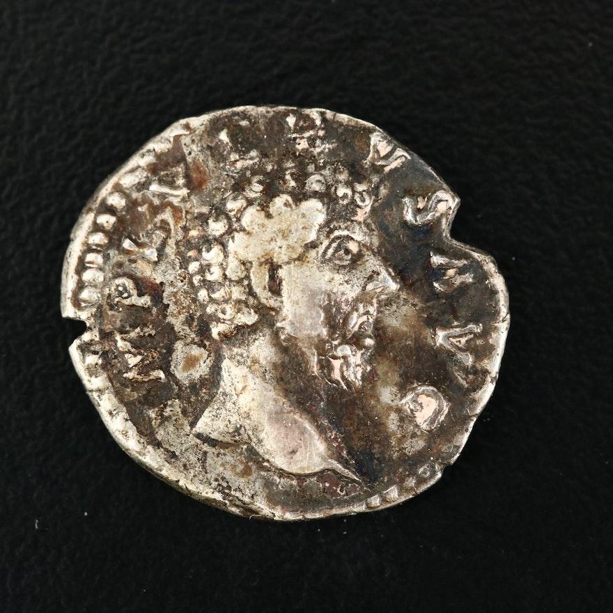 Ancient Roman Imperial AR Denarius of Lucius Verus, ca. 162 A.D.