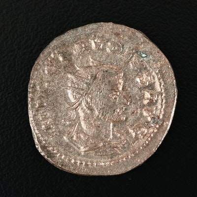 Ancient Roman Silvered Antoninianus Coin of Claudius II Gothicus, ca. 268 A.D.