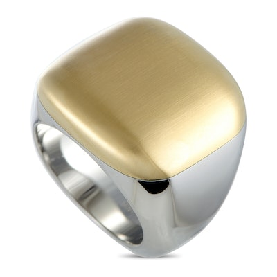 Calvin Klein Placid Yellow Gold PVD-Plated Stainless Steel Ring