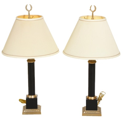 Neoclassical Style Metal Table Lamps