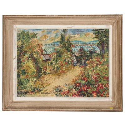 Impressionist Oil Painting in the Style of Renoir, 1958