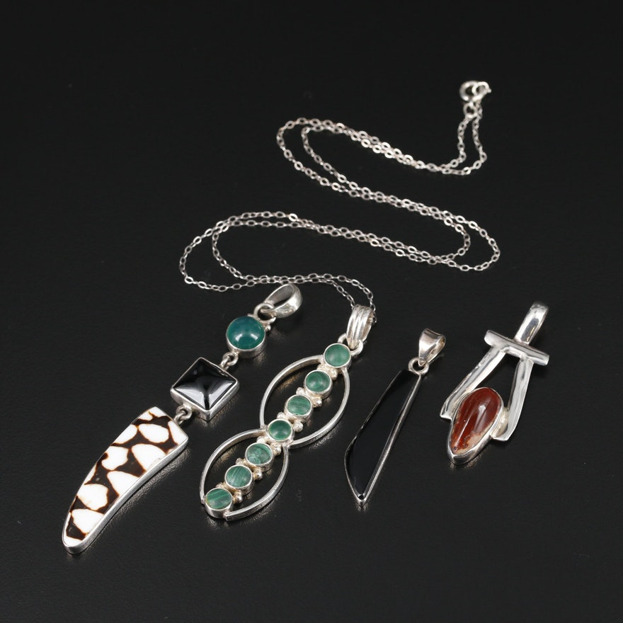 Sterling Necklaces and Pendants Including Southwestern Pieces