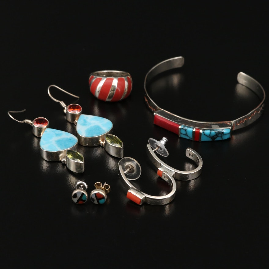 Collection of Southwestern Jewelry Featuring J. Chee for Gertrude Zachary