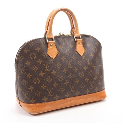 Louis Vuitton Alma PM Satchel in Monogram Canvas and Vachetta Leather