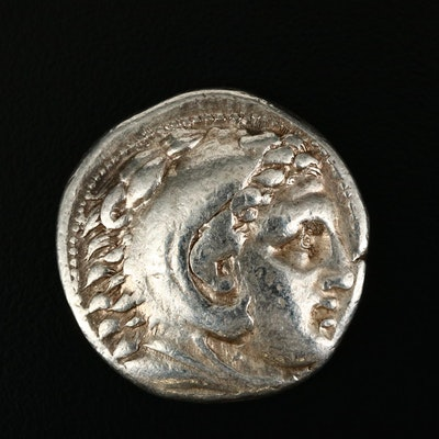 "Ancient Macedonia AR Tetradrachm Coin of Alexander III, ""The Great,"" c. 315 B.C."