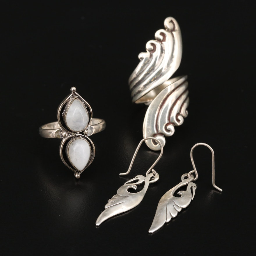 Southwestern Sterling Jewelry Featuring Gheaui and Aimee Cazares for Taxco