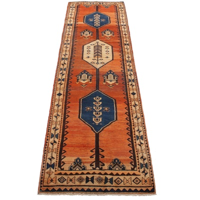 3'11 x 13'2 Hand-Knotted Northwest Persian Wide Runner Rug, 1930s