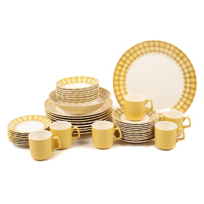 "Royal China ""Sierra Madre"" Royal-Ironstone Dinnerware Set, Mid-20th Century"