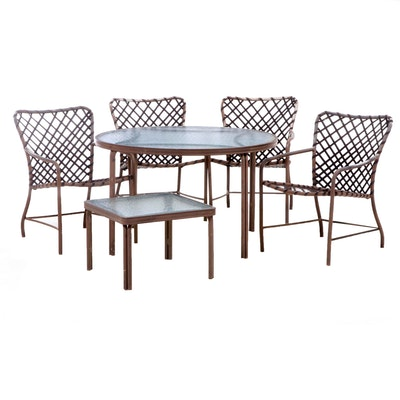 Brown Jordan Patio Dining Set with Side Table