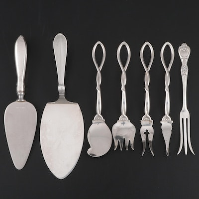 Whiting and Other Sterling Silver Serveware, Mid to Late 20th Century