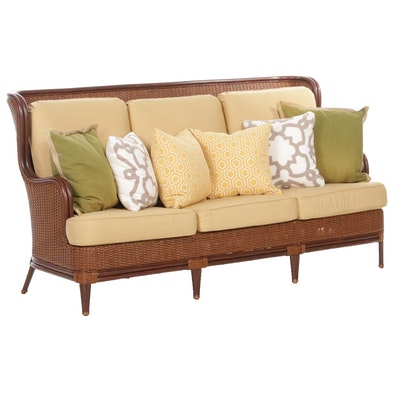 Frontgate Faux Rattan Wicker Patio Sofa