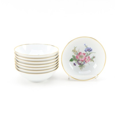 Kaiser Porcelain Fruit Bowls with Wildflower Motif, Mid to Late 20th Century